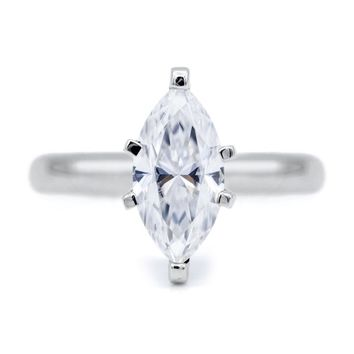 Marquise Moissanite 6 Prongs FANCY Solitaire Ring