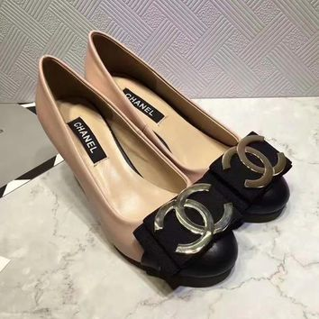 CHANEL Women Fashion Leather High Heels Shoes