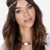 Leaf Filigree Stretch Headband