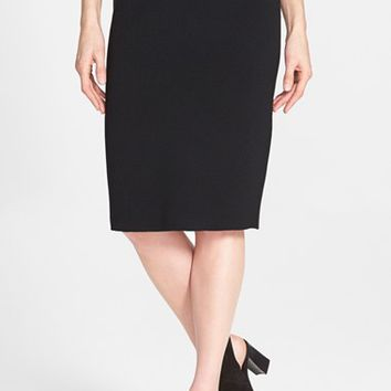 Women's Eileen Fisher Silk Blend Knit Straight Skirt