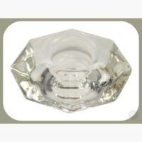 Clear Glass Reversible Chime / Taper Candle Holder