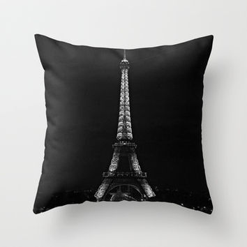 Eiffel Tower Throw Pillow by RainbowHalle