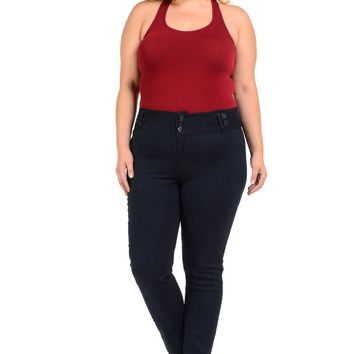 Pasion Women's Jeans - Plus Size - High Waist - Push Up - Skinny - Style YC027