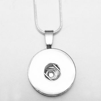 snap button jewelry    Newest    pendant   Necklace   OEM, ODM  ND660(fit 18mm snaps)