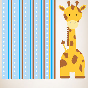 Graphic Wall Vinyl Decal Sticker Giraffe with Strips #MM110