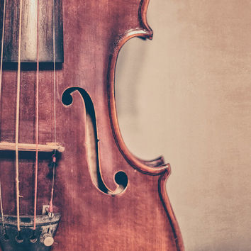 Violin Fine Art Photography Musical Instrument Music Fiddle Photo Print Classical Music Room Decor Music Lover Christmas Gift Idea
