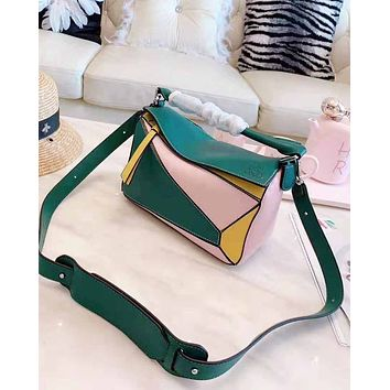 LOEWE hot seller of women's small shopping bag with Mosaic color and fashionable shoulder bag