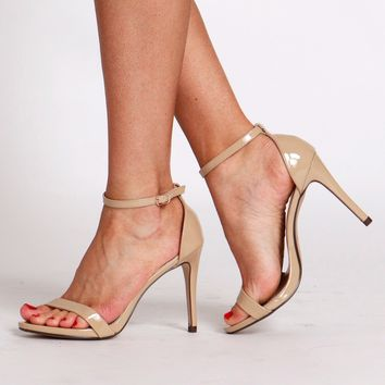 Ankle Strap Heels Nude