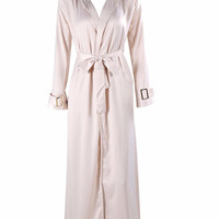 Caliou Pale Gold Silky Duster Jacket