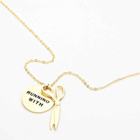 """Running With Scissors""Necklace Gold"