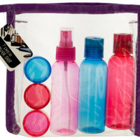 Travel Container set in Zipper Case Case Pack 4