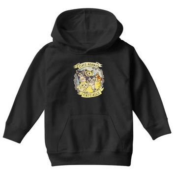 cats against cat calls Youth Hoodie