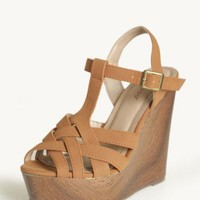 wesley woven platform wedges at ShopRuche.com