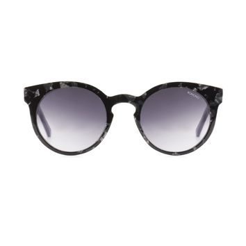 Komono - The Lulu Black Marble Sunglasses / Scratch Resistant CR-39 Gradient Smoke Lenses