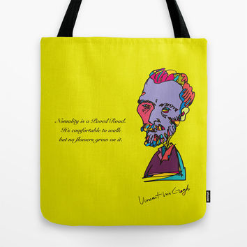Van gogh Tote Bag by PINT GRAPHICS