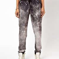 ASOS Jogger in Photographic Galaxy Print at asos.com