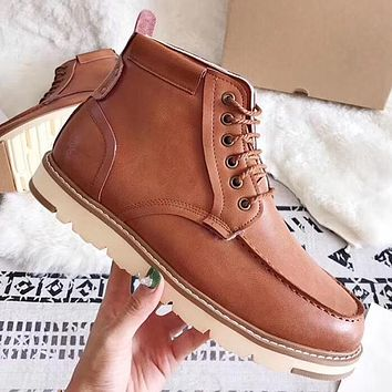 UGG Woman Men Fashion Leather Martin Boots Shoes