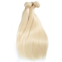 Malaysian 613 Russian Blonde Straight Human Non-Remy Hair Extensions