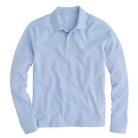 J.Crew Mens Long-Sleeve Classic Piqué Polo