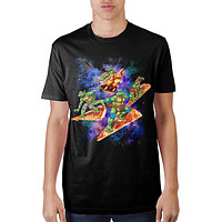 TMNT Pizza Surfing In Space T-Shirt