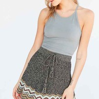 Ecote Chevron Sweater-Knit Mini Skirt