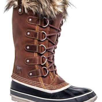 Sorel - Joan of Arctic Premium Low Heel Boot - Cappuccino Oxford Tan at DNA Footwear