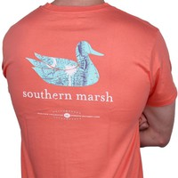 Authentic South Carolina Heritage Tee in Coral by Southern Marsh