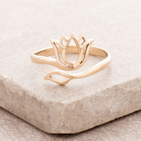 Bronze Lotus Ring