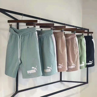 """""""PUMA"""" Casual Print Contracted Stripe Vertical Shorts  G-A-XYCL"""