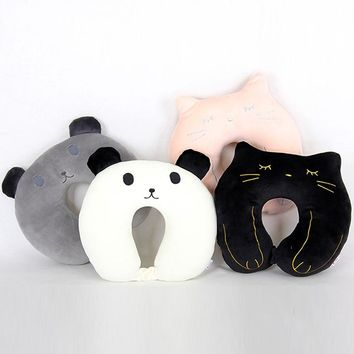 Creative cartoon U shaped pillow and travel pillow neck lovely bear and  Plush toy doll pillows sleep and travel neck pillow