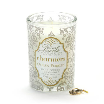 Secret Jewels Charmers Scented Candle, Ocean Pebbles