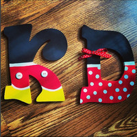 Disney Themed Wooden Wall Letters PERSONALIZED Customizable Initials