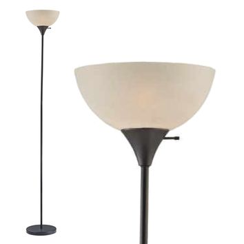 Floor Lamp 72 Inches Tall (Black) Model 6281-21