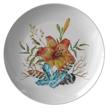 Tiger Lily Bouquet - Plate