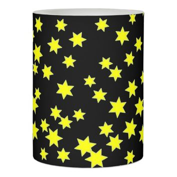 Yellow Stars Flameless Candle