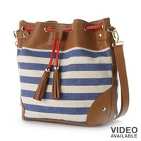 Apt. 9® Simone Nautical Stripe Bucket Bag