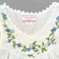 Haiti Project's Long White Cotton Nightgown - Embroidered