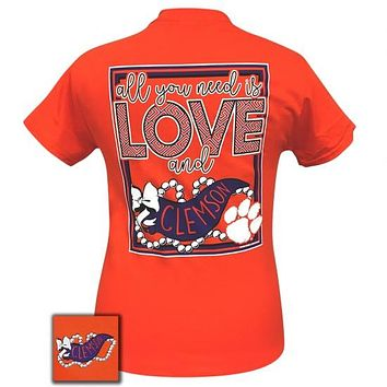 South Carolina Clemson Tigers All You Need Is Love T-Shirt