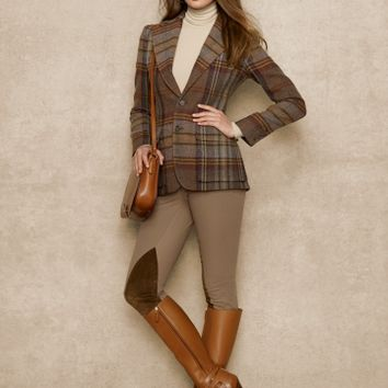 Wool-Alpaca Plaid Jacket - Jackets   Women - RalphLauren.com