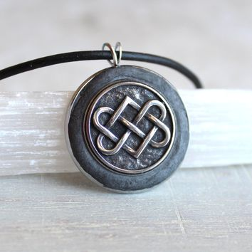 Black Celtic knot necklace
