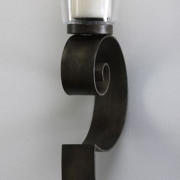 Iron Scroll Wall Candleholder