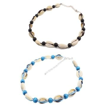 Natural necklace vintage velvet rope beads natural shell choker jewelry for women