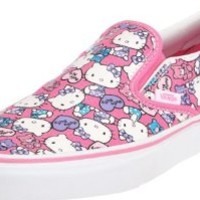 Vans Classic Slip-On Hello Kitty VN-0QFD66X Pink/ White Shoes Size Men's 7.5/ Women's 9