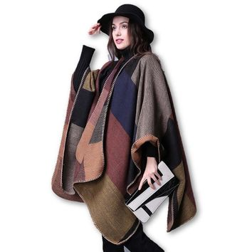 New Poncho Blanket Knit Shawl Cashmere Cape Scarf