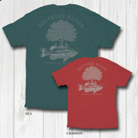 """Southern Raised """"Hooked On the South"""" Tee on Comfort Colors"""