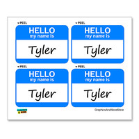 Tyler Hello My Name Is - Sheet of 4 Stickers