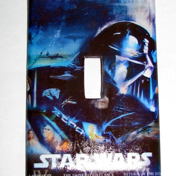 Light Switch Cover - Light Switch Plate Star Wars The Empire Strikes Back Vintage Movie Poster