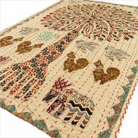 """34"""" Brown Tree of Life Decorative Wall Hanging Tapestry Ethnic Embroidery Decor"""