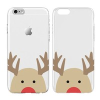 Deer iphone case, X-Mas Gift, Transparent Skin, Scratch Proof Protective Slim Case for iPhone 6 plus 6s plus
