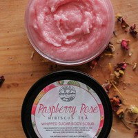 Raspberry Rose Hibiscus Tea - Whipped Sugar Scrub